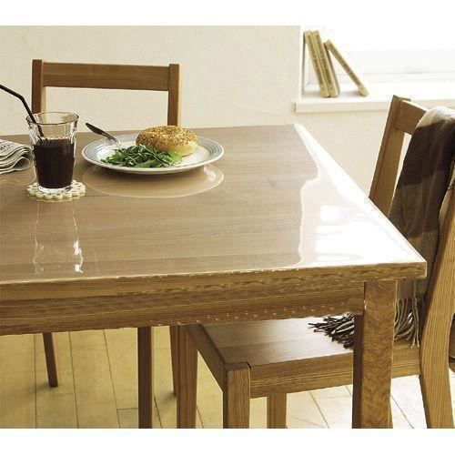 Prot ge table transparent transparent largeur 1 achat vente protege table cdiscount - Protege table transparent epais ...