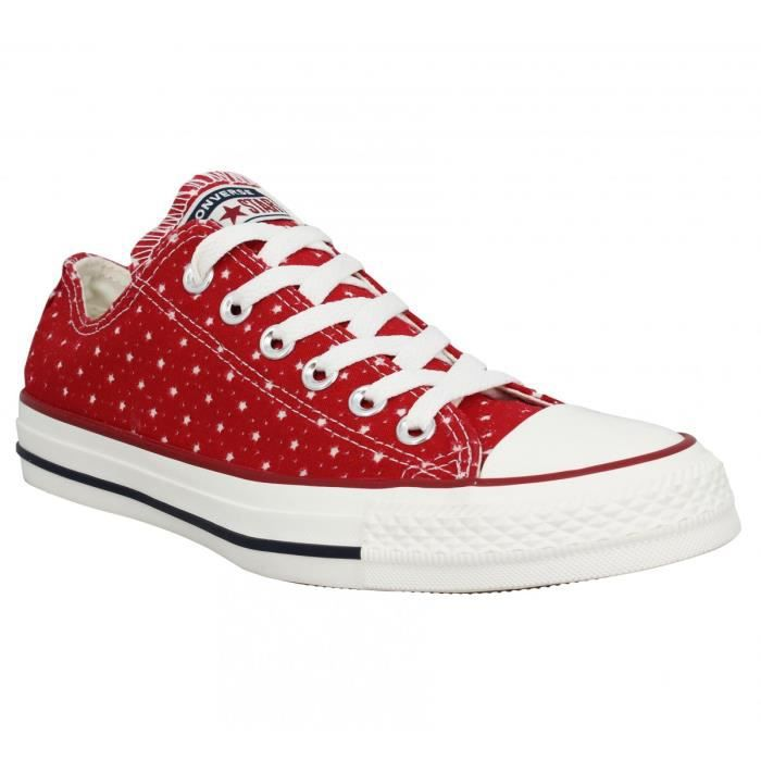 Baskets CONVERSE Chuck Taylor All Star etoile Femme-37-Rouge ...