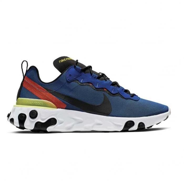 Basket mode Nike React Element 55 Bleu Bleu - Cdiscount Chaussures