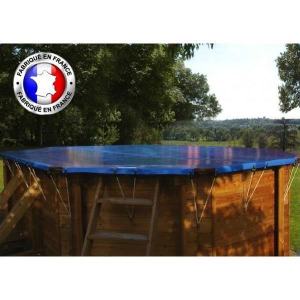 BÂCHE - COUVERTURE  Pour piscine procopi Octo+ 460 amande