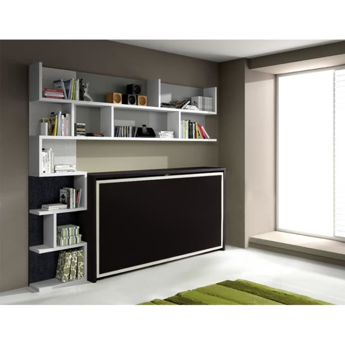armoire lit escamotable fleet 1 personne lit 90x19 achat vente lit escamotable armoire lit. Black Bedroom Furniture Sets. Home Design Ideas