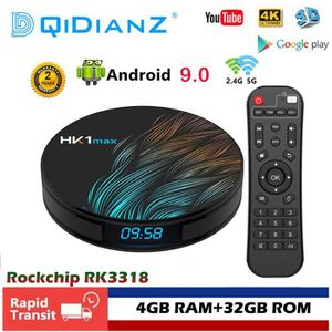 BOX MULTIMEDIA DQiDianZ HK1max 4GB+32GB Android 9.0 Smart TV BOX