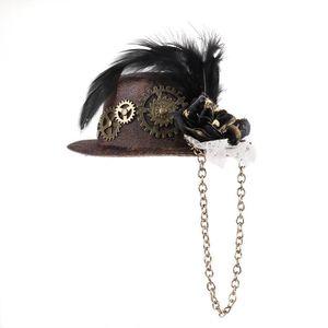 CHAPEAU - PERRUQUE Chapeau Victorien Gothique Mini Chapeau Haut de Fo