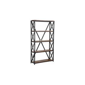 MEUBLE ÉTAGÈRE Etagère acier 5 niveaux croisillons
