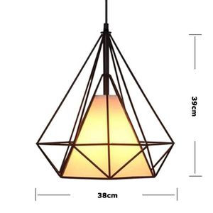 LUSTRE ET SUSPENSION Suspension luminaire Industrielle vintage DIAMANT