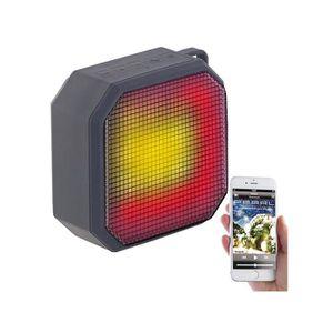 ENCEINTE NOMADE Haut-parleur MP3 actif 6 W sanf fil à effets lumin