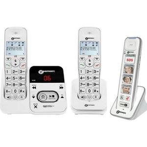 Téléphone fixe Pack téléphone senior: AMPLIDECT 295-2 AVEC RÉPOND