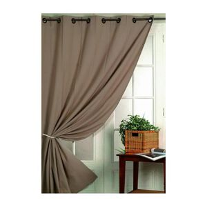 RIDEAU Rideau ameublement 80 % occultant  Taupe 140 x 260