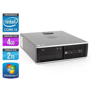 UNITÉ CENTRALE  HP Elite 8200 SFF - Intel Core i3 - 4Go - 2To