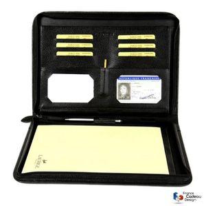 CONFÉRENCIER Conférencier porte-document A4 en cuir véritable n