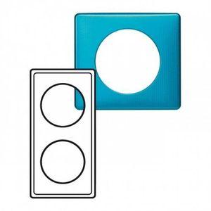 Legrand LEG98876 C/éliane2 Plaque avec 2 postes Bleu Snake