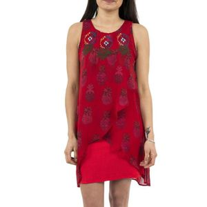 ROBE robe desigual 18swvwds katherina rouge