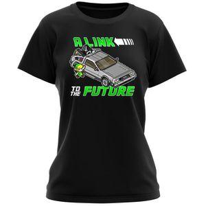 T-SHIRT T-shirt Femme Noir Zelda parodique Link et la Delo