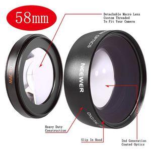 OBJECTIF NEEWER® 58mm 0.45x Objectif Grand Angle avec Macro