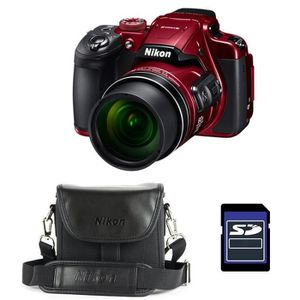 APPAREIL PHOTO BRIDGE NIKON Bridge Coolpix B700 ROUGE + Etui + Carte SD