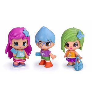FIGURINE - PERSONNAGE PINYPON  Coffret 4 figurines City - un sac et des