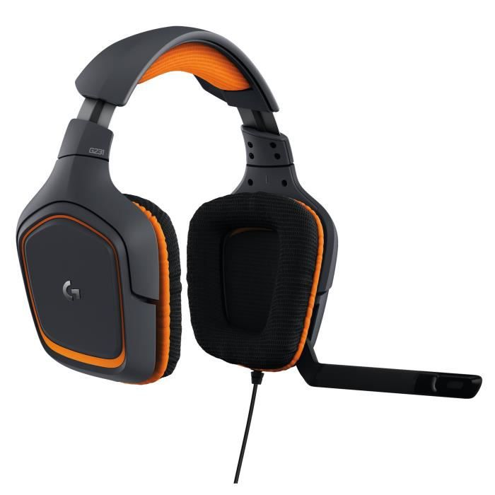 Logitech Micro Casque Gamer G231 Prodigy Filaire Compatible Pc