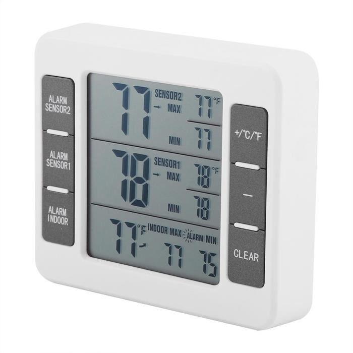 THERMOMETRE - HYDROMETRE(ABS)-Thermomètre sans fil pour réfrigérateur