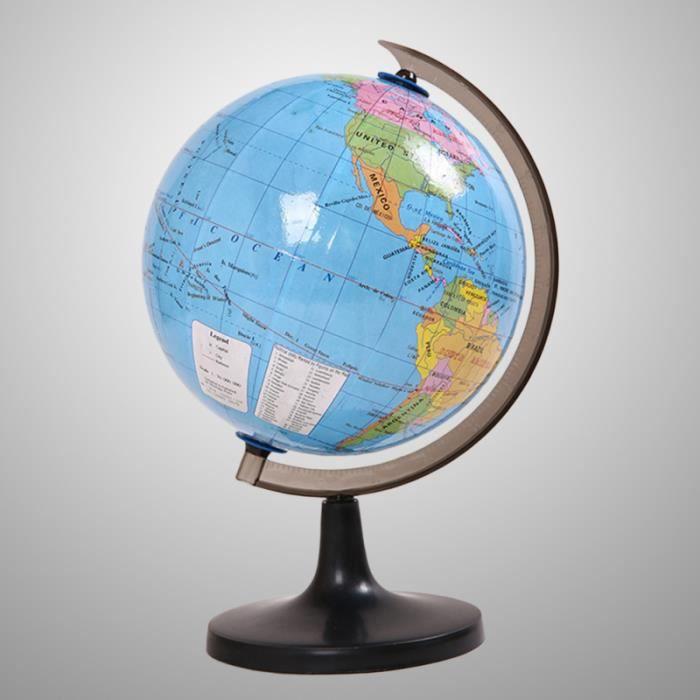 Globe Terrestre de Monde Politique de 7,2 Pouces AVEC SUPPORT DE BUREAU balle - boule - ballon jeux de recre - jeux d'exterieur