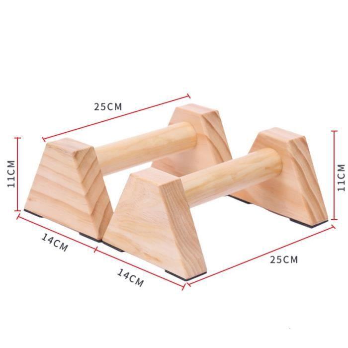25cm en bois Calisthenics Handstand gymnastique exercice entraînement barre parallèle 1 paire Fitnes - Modèle: Marron -