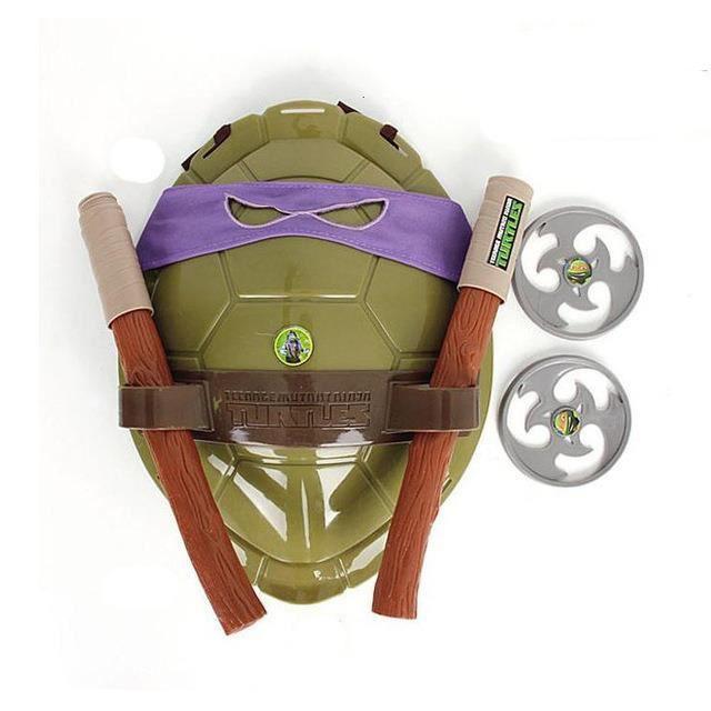 Anime film dessin animé Ninja jouets figurine tortues armure armes Leo Raph Mikey DonFigure Cosplay coquille accessoires pour enfant