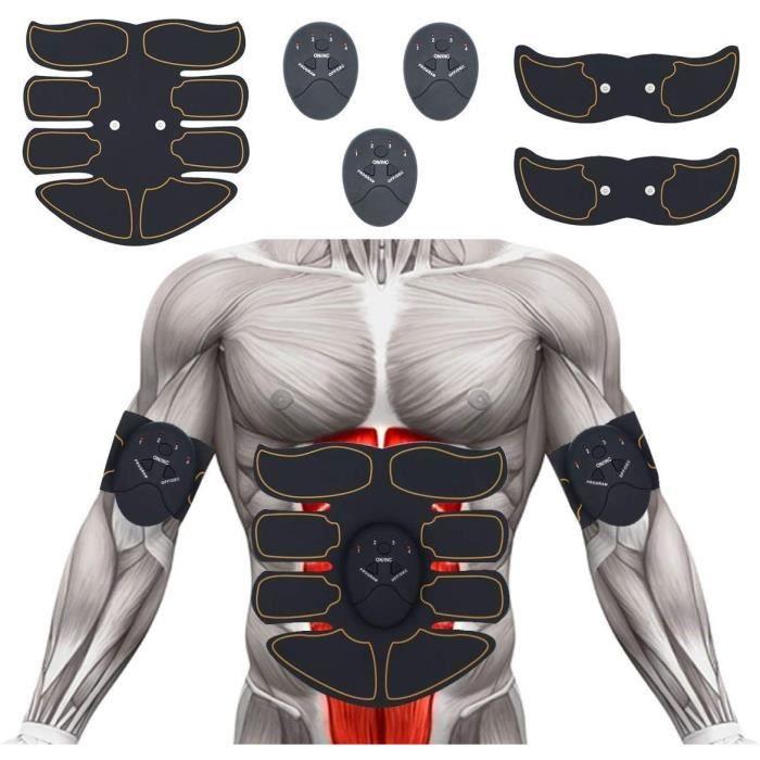 Abdominal Muscle Trainer Stimulator, Appareil Ceinture Abdominale Musculaire, Appareil Abdominaux Electrique, Electrostimulation Mus
