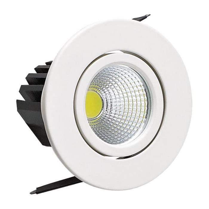 Mini spot LED downlight 3W rond blanc