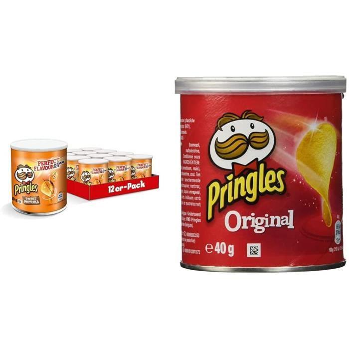 Chips Tuiles Paprika - Pack de 12 x 40g & chips Original Mini - Pack de 12 x 40 g