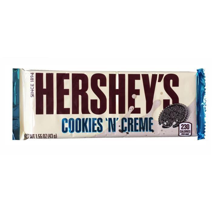 HERSHEY'S Barre de Chocolat Cookies 'N' Creme - 43 g