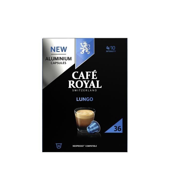 Café capsules Lungo CAFE ROYAL compatibles Nespresso les 36 capsules - 174g