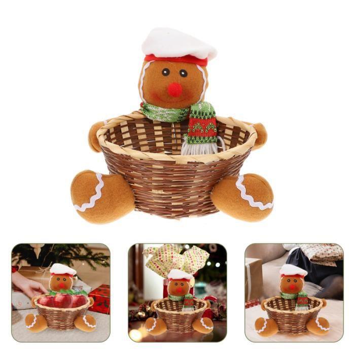 1PC Christmas Candy Panier Dessin animé Xmas Desktop Decor Accueil Beau barbe à bonbons chocolat-bonbon confiserie chocolat