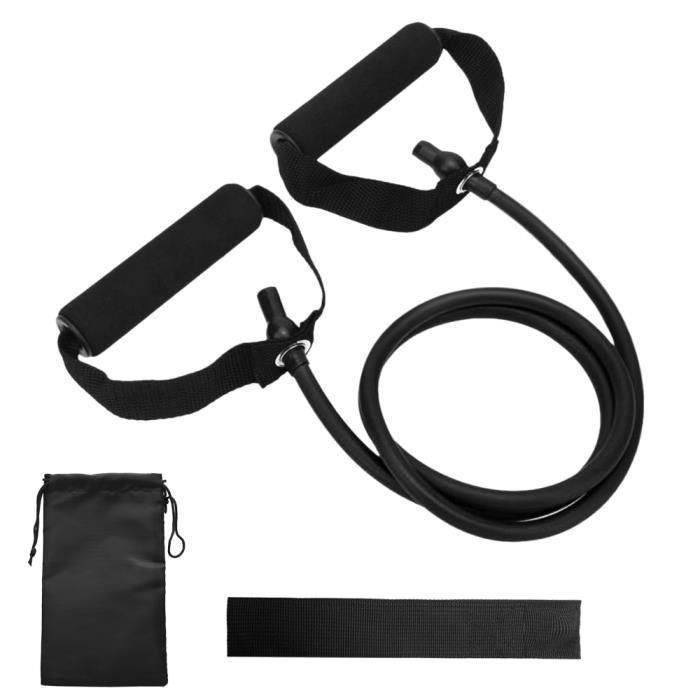Bandes de tube de tonification de résistance Bande d'exercice élastique d'entraînement physique avec ancrage de porte et sac de -87