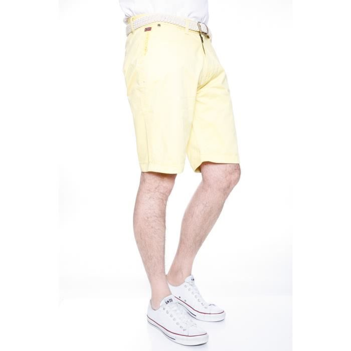 Bermuda Chino Homme Geographical Norway Proud Light Yellow