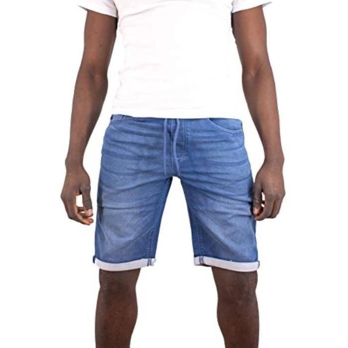 Bermuda denim uni Torrente Couture Rezzo - Bleu Indigo