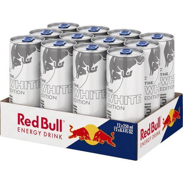 Red Bull Energy The White Edition noix de coco Myrtille 0,25l (Pack de 12)