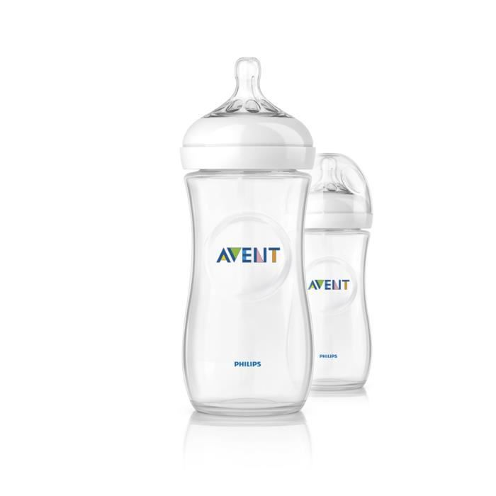 PHILIPS AVENT 2Biberons de 330ml Natural SCF696/27
