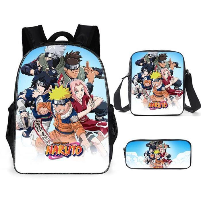 Naruto D'école Cool Garçons Filles Anime Sac À Dos Scolaire Naruto Enfants Backpack A4