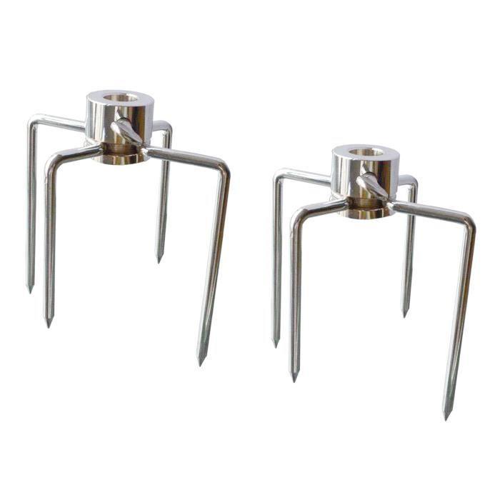 2 pièces BARBECUE Grill Tournebroche Viande Fourchettes Remplacement 4-Prong Grill Broche Accessoires de Tiges