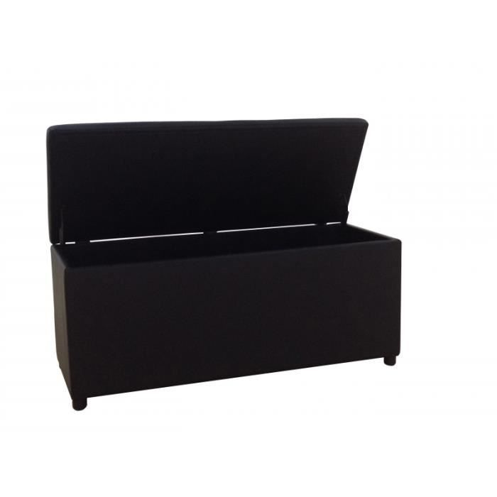 banquette coffre de rangement noir meli achat vente. Black Bedroom Furniture Sets. Home Design Ideas