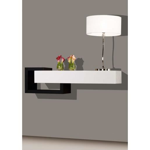 console design murale blanc noir 1t ue achat vente console console design murale blanc. Black Bedroom Furniture Sets. Home Design Ideas