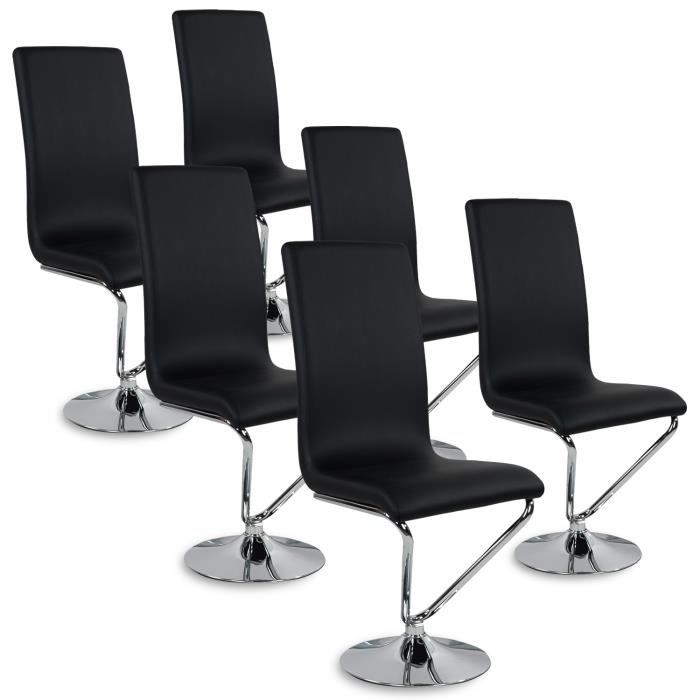 lot de 6 chaises colami noir achat vente chaise noir cdiscount. Black Bedroom Furniture Sets. Home Design Ideas