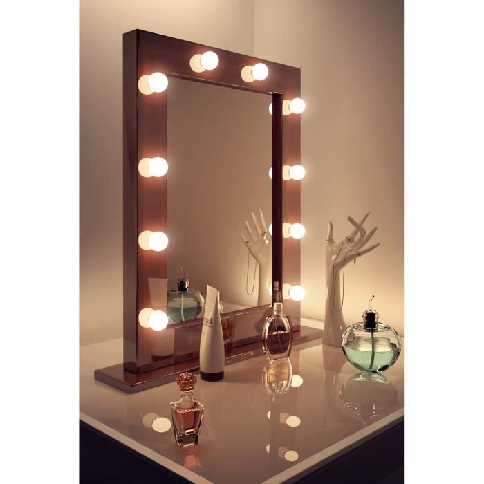 dark miroir de maquillage hollywood lampes del graduables