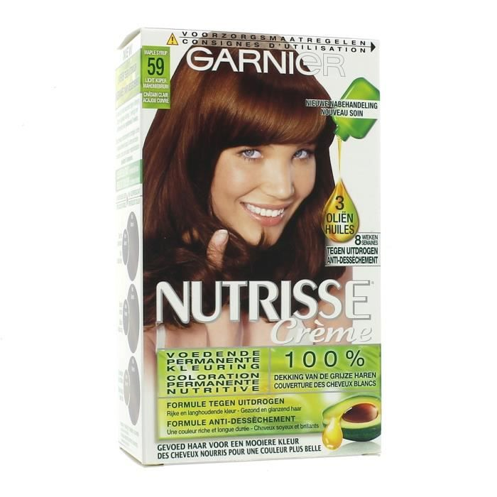 coloration garnier coloration nutrisse crme 59 chtain cla - Coloration Chatain Acajou
