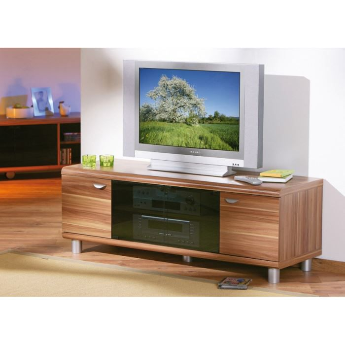meuble tv ou multimedia finn decor noyer achat vente. Black Bedroom Furniture Sets. Home Design Ideas