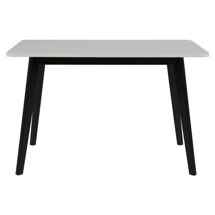 Table manger blanc laqu design rado achat vente for Table a manger blanc laque