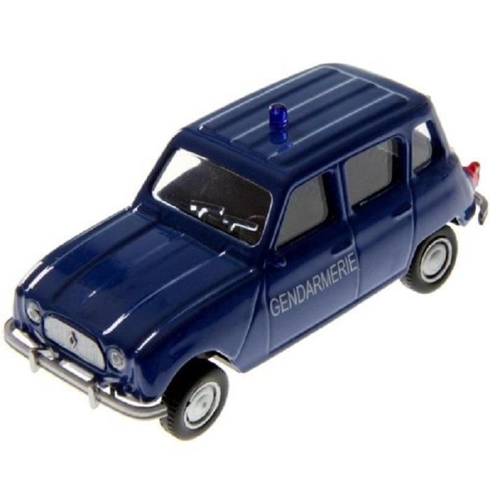 voiture miniature 1 43 renault 4l gendarmerie bleu metal neuf mondo motors achat vente. Black Bedroom Furniture Sets. Home Design Ideas