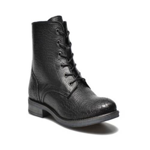 bottines lacets chaussures femme ippon vintage new noir achat vente bottine cadeaux de. Black Bedroom Furniture Sets. Home Design Ideas