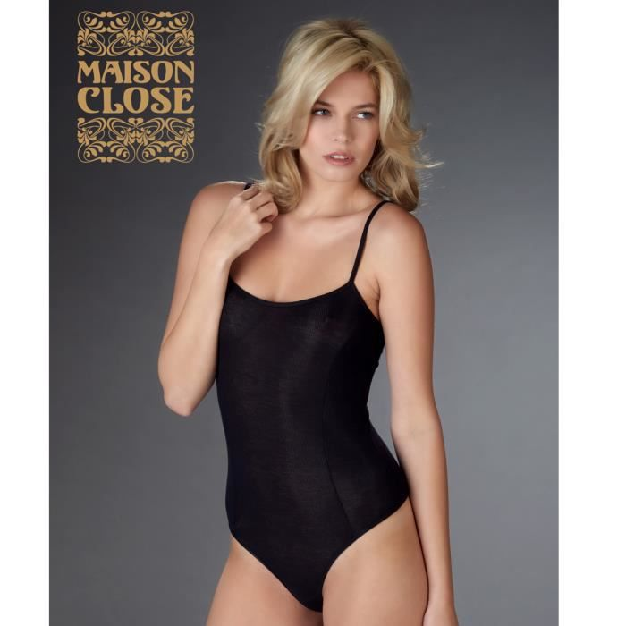 Maison close body string bellevue noir noir noir achat vente body cdisc - Vente privee maison close ...
