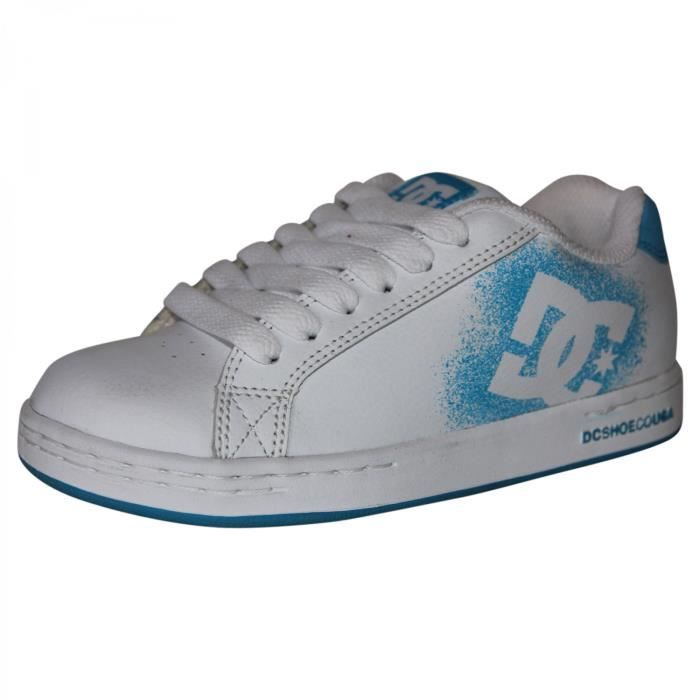 samples shoes DC TAG WHITE TURQUOISE KIDS / ENFANTS