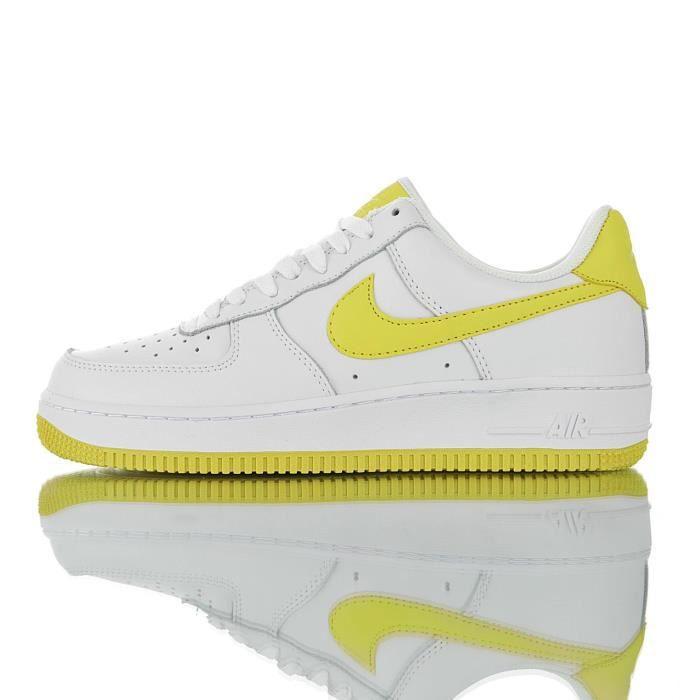 Baskets Nike Air Force 1 '07 Femme et Homme Jaune Jaune Jaune ...